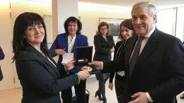 Антонио Таяни подкрепя членството на България в Шенген и в еврозоната
