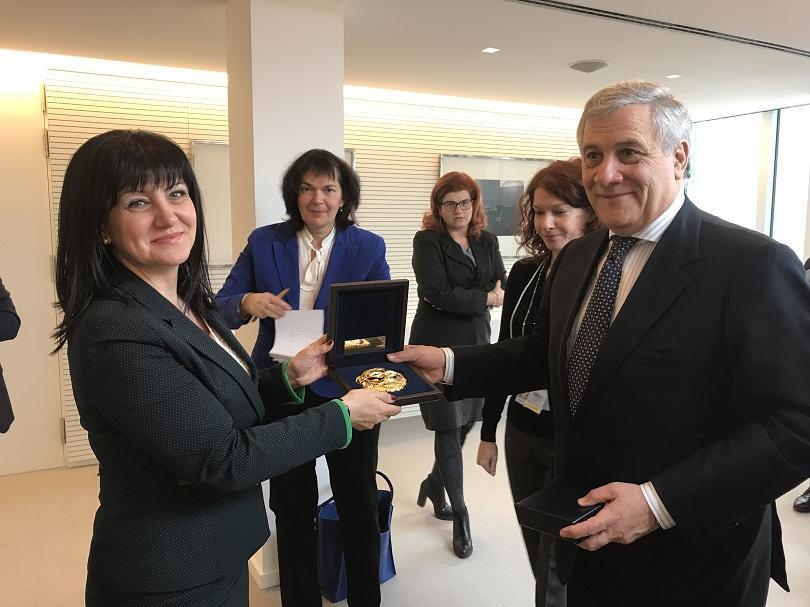 Председателят на Европейския парламент Антонио Таяни подкрепя членството на България