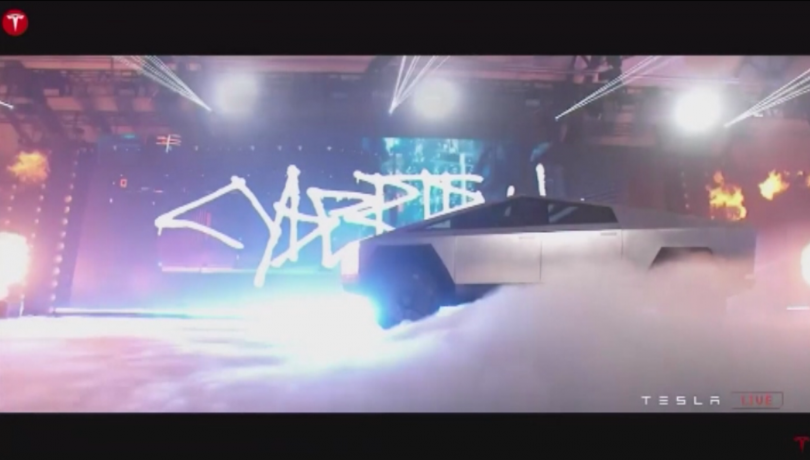 Дългоочакваното представяне на футуристичен електрически пикап на Тесла в Калифорния
