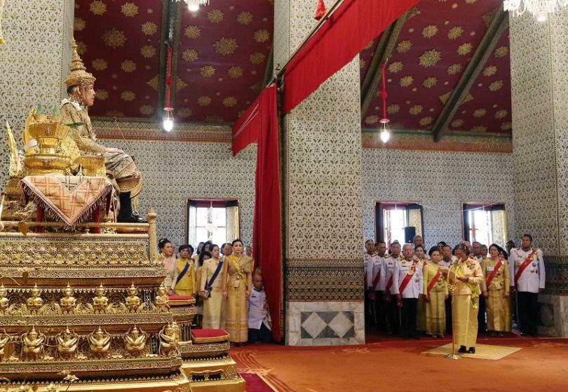 приключи първият ден церемониите коронясването краля тайланд