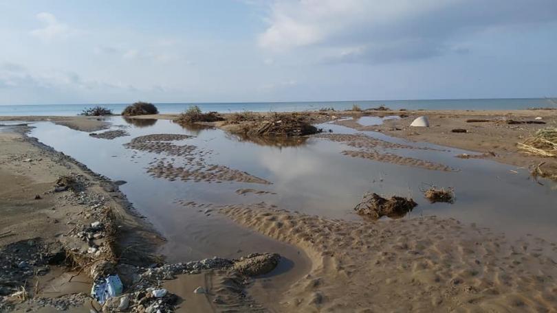 снимка 2 Проливни дъждове нанесоха щети на гръцкия остров Тасос