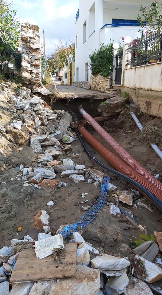 снимка 4 Проливни дъждове нанесоха щети на гръцкия остров Тасос