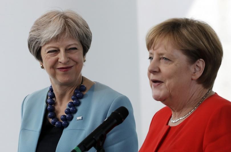 Британският премиер Тереза Мей и германският канцлер Ангела Меркел