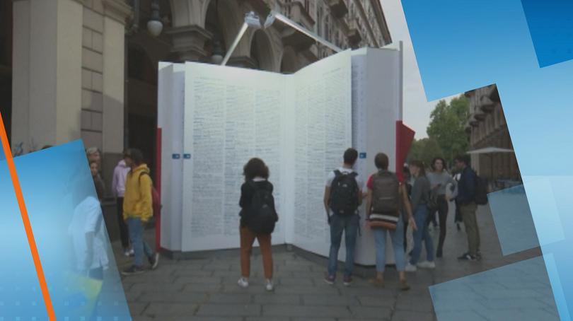 Гигантски речник е новата атракция в Торино