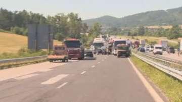 Ограничение на скоростта по АМ Тракия в района на Ихтиман