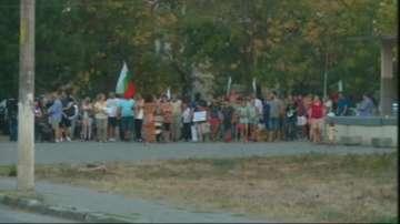 Жителите на село Труд блокираха главния път Пловдив - Карлово