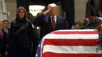 Тръмп отдаде почит на Джордж Буш-старши