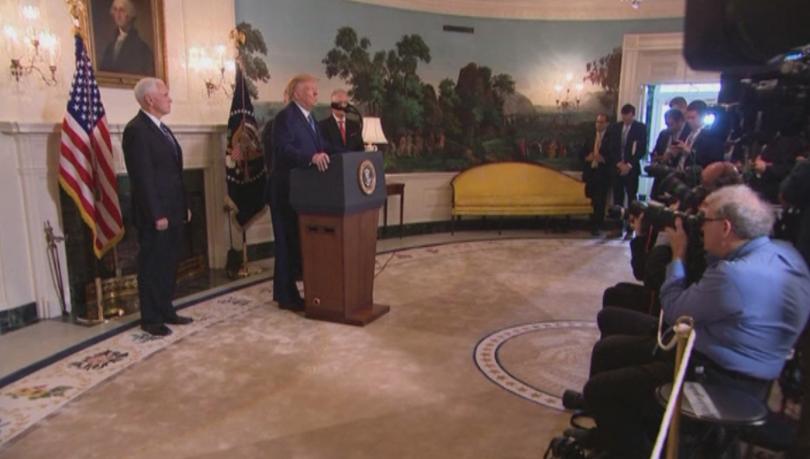 Американският президент Доналд Тръмп обяви тази вечер, че вдига санкциите