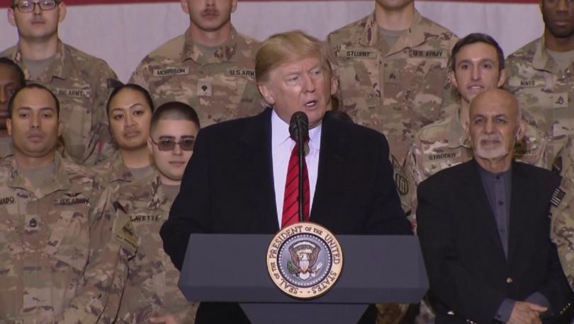 Американският президент Доналд Тръмп направи неочаквано посещение на американските войници