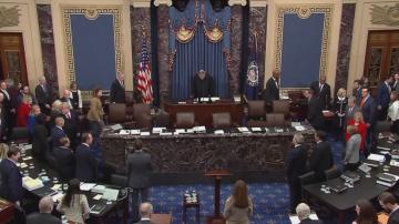 Започнаха встъпителните аргументи на процеса срещу Тръмп в Сената