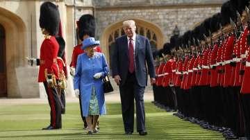 Кралица Елизабет Втора прие Доналд Тръмп на чай в замъка Уиндзор (СНИМКИ)