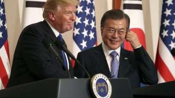 Доналд Тръмп разговаря с президента на Южна Корея