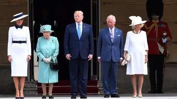 Кралица Елизабет Втора прие Доналд Тръмп в Бъкингамския дворец