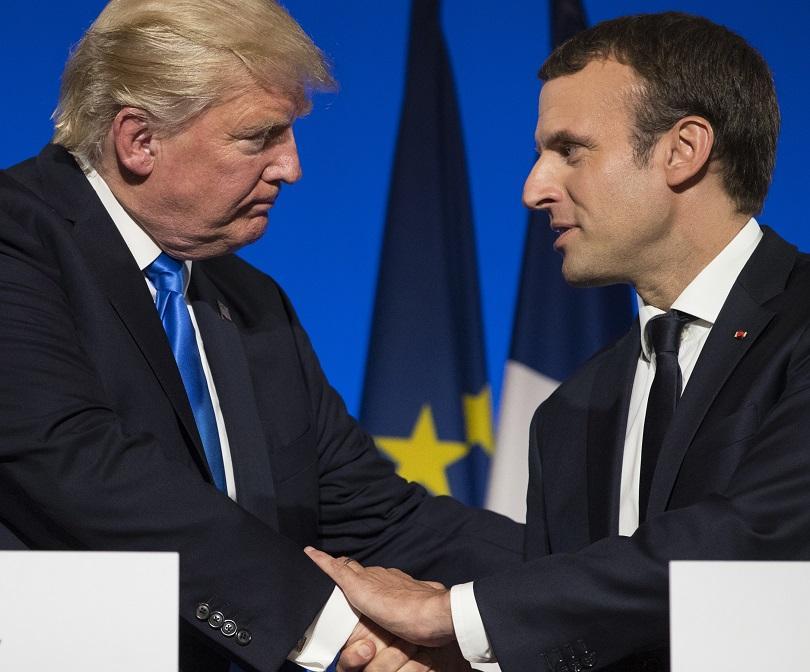 снимка 1 Британската преса: Макрон се опитва да спечели благоразположението на Тръмп