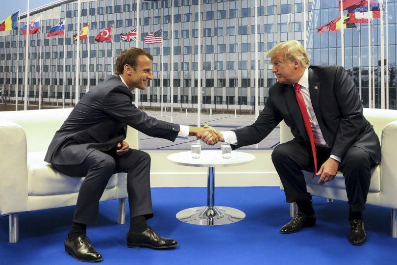 разрив отношенията европа сащ увери тръмп срещата макрон