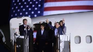 Тримата американци, освободени от затвор в Северна Корея, се прибраха в САЩ