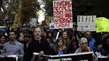 Протест срещу Доналд Тръмп в Питсбърг