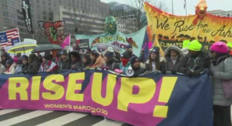 В Съединените щати се състоя 4-ти национален поход на жените.