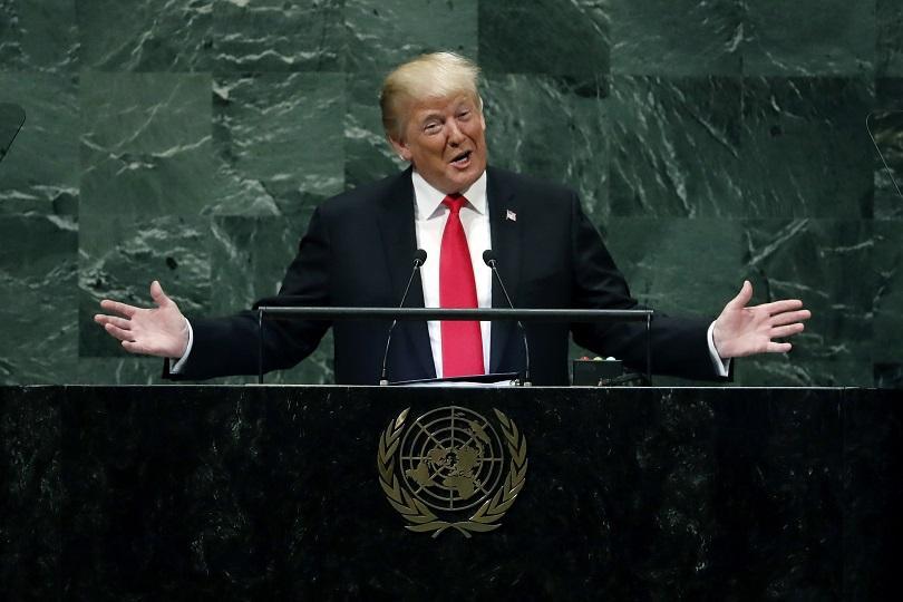Президентът на САЩ Доналд Тръмп заклейми в речта си пред