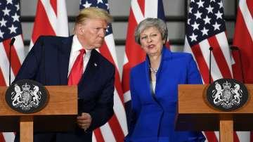 Доналд Тръмп се срещна с британския премиер Тереза Мей в Лондон