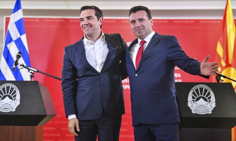 Премиерът на Северна Македония Зоран Заев посрещна в Скопие гръцкия