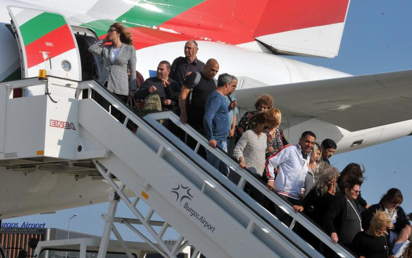 ръст чуждестранните туристи българия януари март