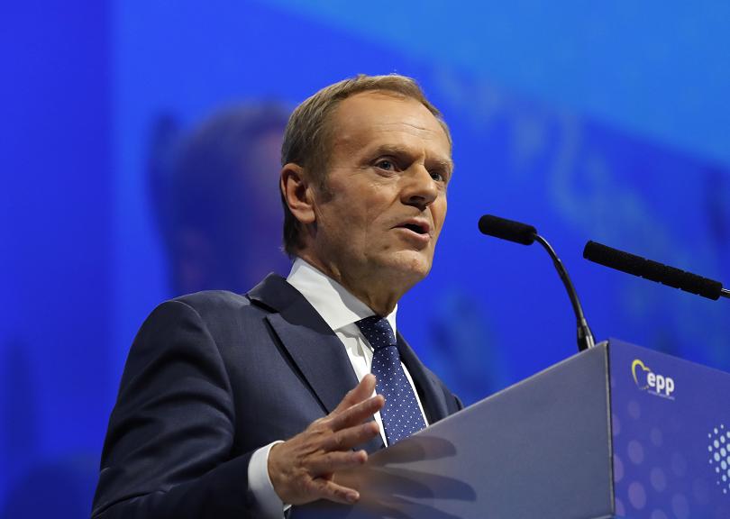 Лидерът на Европейската народна партия (ЕНП) Доналд Туск, който доскоро