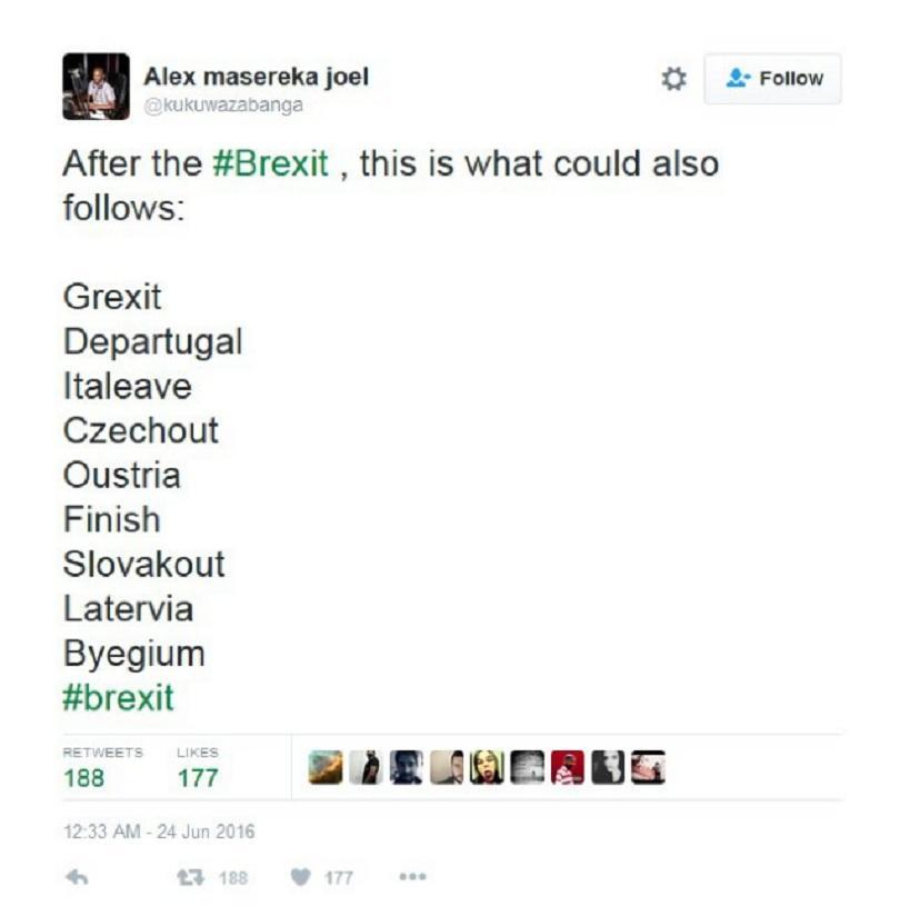 снимка 1 Twitter се присмя на Brexit