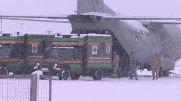 Учението в авиобаза Враждебна отработи сценарий на самолетна катастрофа
