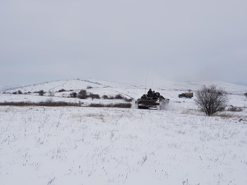 """снимка 2 Батальонно тактическо учение """"Вратица 2019"""" се проведе на полигона Сливница"""