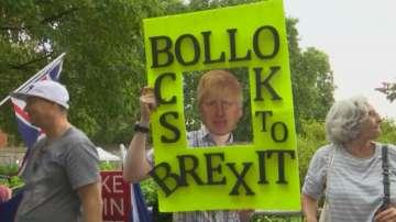 Протести след решението на Борис Джонсън да спре временно работата на парламента