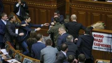 Бой в украинския парламент