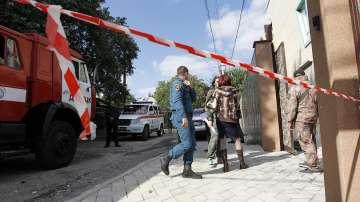 Няколко души са ранени от взрив на форум на комунистическата партия в Украйна