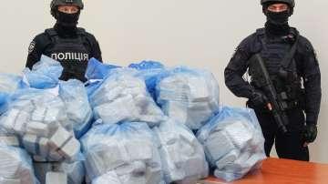 Заловиха рекордните 19,5 тона кокаин в Украйна