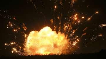 Пожар във военни складове в Украйна