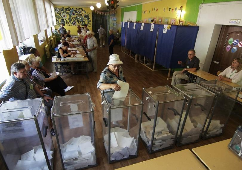 Избирателната активност в Украйна на предсрочния парламентарен вот е достигнала