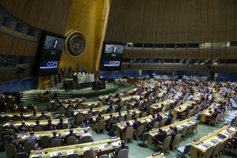 Общото събрание на ООН прие с обикновено мнозинство проекторезолюция на