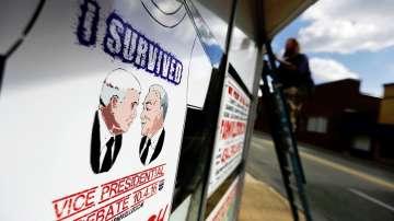 Преди първия дебат между кандидатите за вицепрезидент на САЩ Кейн и Пенс