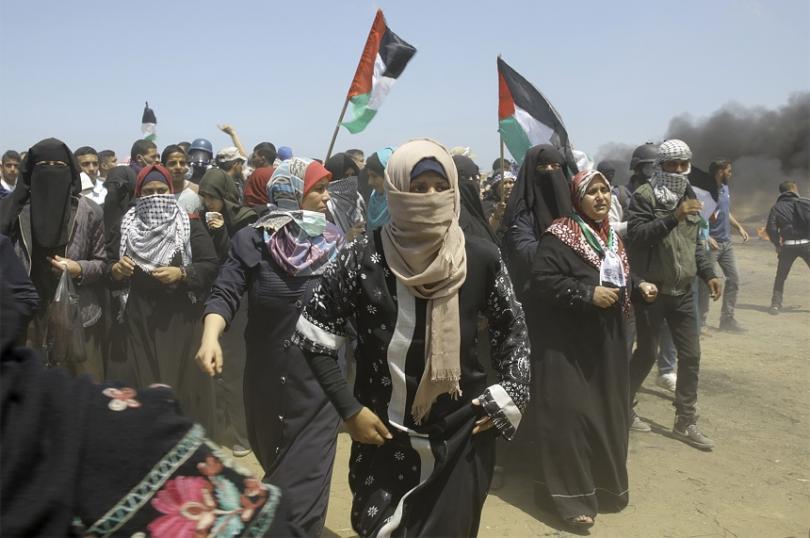 снимка 5 Протести с десетки жертви след откриването на посолството на САЩ в Ерусалим