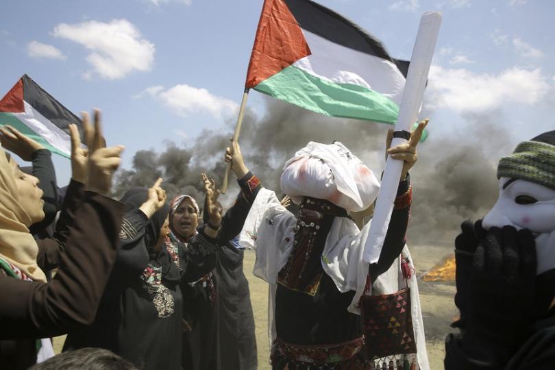 снимка 6 Протести с десетки жертви след откриването на посолството на САЩ в Ерусалим