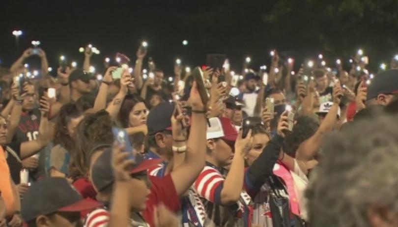Бдения и възпоменателни церемонии в Съединените щати след двете масови