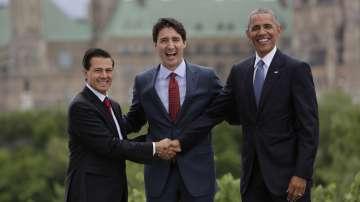 Президентите на САЩ, Канада и Мексико се срещнаха в Отава