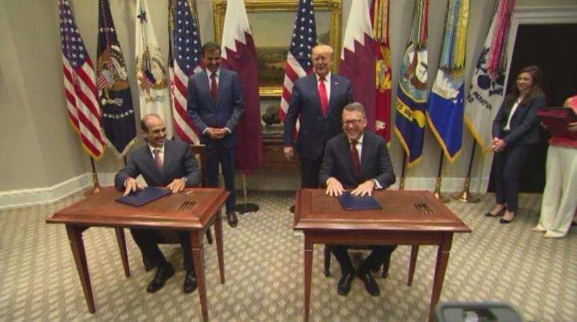Търговски споразумения между Катар и Съединените щати бяха подписани във