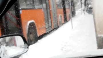 Снегорин блокира градския транспорт
