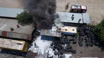Голям пожар вилня в непосредствена близост до Митница Пловдив