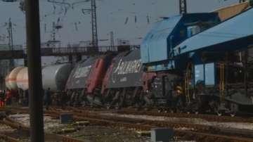 Ниска скорост е предотвратила обръщането на вагоните с газ край гара Пловдив
