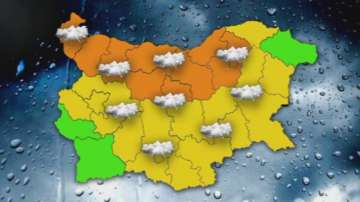 Оранжев код за валежи и гръмотевични бури в 10 области на страната