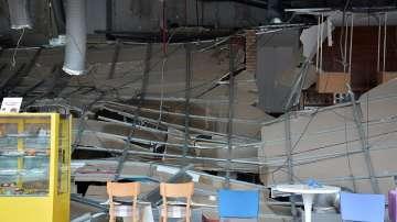Взрив на газова бутилка предизви пожар в търговски център във Варна