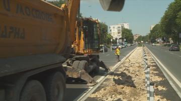 Ремонтите по бул. Васил Левски във Варна отново предизвикаха недоволство