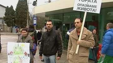 Протест в Аспарухово срещу изсичането на горите